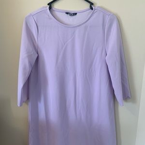 SHEIN lavender mid length dress 3/4 sleeve size XS